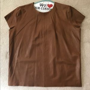 COACH leather shirt